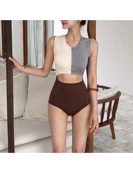 Gourami   Color Block Cutout Swimsuit by Gourami