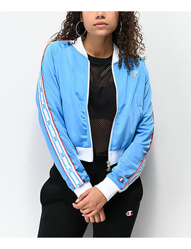 Champion Logo Tape Light Blue Track Jacket by Champion