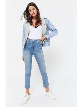 Jeans à Taille Haute Girlfriend Bdg   Teinte Claire by Voir Plus De Bdg