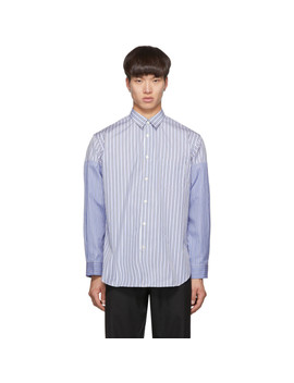 Blue & White Stripe Vented Sleeves Shirt by Comme Des GarÇons Shirt