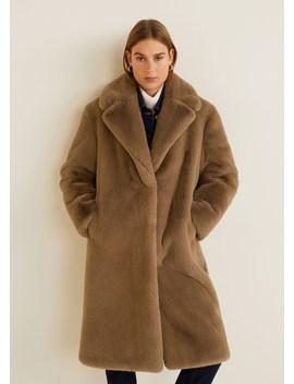 Oversize Faux Fur Coat by Mango