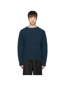 Blue Wool Bunker Sweater by Études