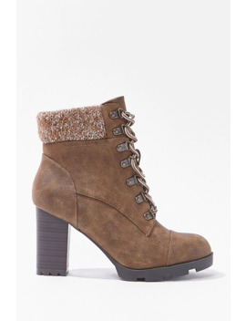 Cap Toe Block Heel Boots by Forever 21