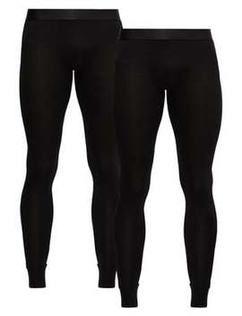 Pack Of Two Stretch Jersey Thermal Leggings by Cdlp