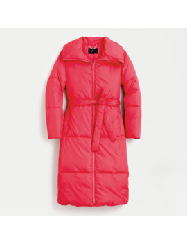 Petite Long Belted Puffer Coat With Prima Loft® by Petite Long Belted Puffer Coat With Prima Loft