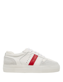 Platform Striped Leather Sneakers by Axel Arigato