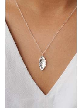 Leaf Necklace | Sterling Silver Leaf Necklace | Natural Necklace | Nature Necklace | Gift Idea | Silver Necklace by Etsy