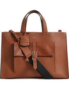 Large Picton Leather Satchel by Reiss