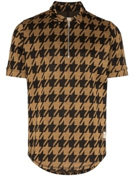 Pelle Houndstooth Polo Shirt by PrÉvu