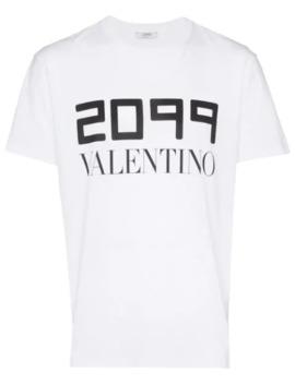 2099 Logo Print T Shirt by Valentino