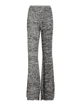 Flared Ribbed Knit Pants by Victoria, Victoria Beckham