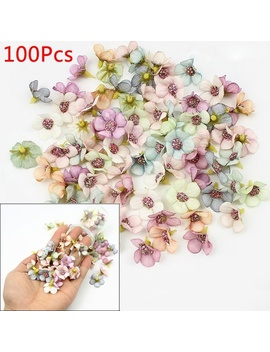 100 Pcs 2cm Multicolor Daisy Flower Heads Mini Silk Artificial Flowers For Wreath Scrapbooking Home Wedding Decoration by Wish