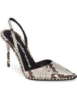 Rina Snake Embossed Chain Slingback Pump by Alexander Wang