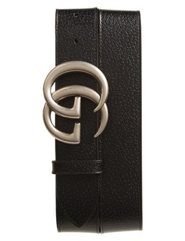 Gg Pebbled Leather Belt by Gucci