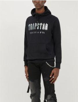 Logo Print Iridescent Cotton Blend Hoody by Trapstar
