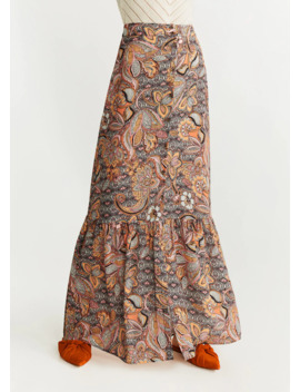 Long Floral Skirt by Mango