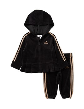 Hooded Jacket & Sweats Set (Baby Girls) by Adidas