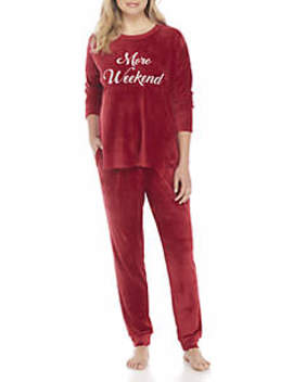 Two Piece Velour Sleep Set by New Directions