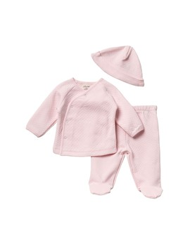 Quilted Cardigan, Pants & Hat   3 Piece Set (Baby Girls) by Little Me