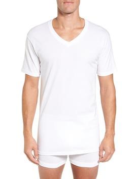 4 Pack Regular Fit Supima® Cotton V Neck T Shirts by Nordstrom Men's Shop