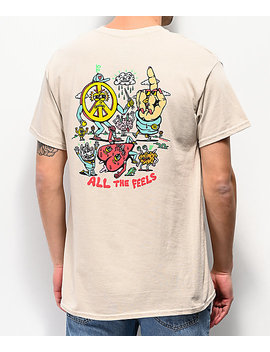 Killer Acid All The Feels Cream T Shirt by Killer Acid