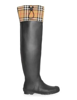 Freddie Rubber Rain Boots by Burberry