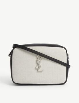 Lou Linen Camera Bag by Saint Laurent