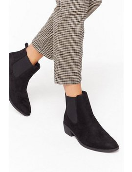 Immi Suede Almond Toe Chelsea Boots by Nasty Gal
