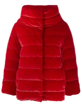 High Neck Quilted Jacket by Herno