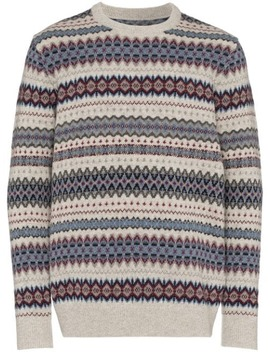 Fair Isle Intarsia Knit Sweater by Barbour