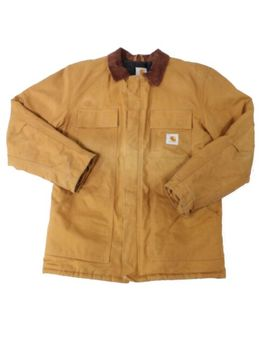 Carhartt Mens Jacket Brown Size Small S Front Pockets Color Blocked $129  #734 by Carhartt