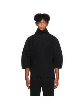 Black Pleated Shirt by Homme PlissÉ Issey Miyake