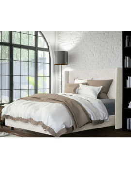 Skyline Furniture Wingback Bed In Zuma White   Queen by Skyline Furniture
