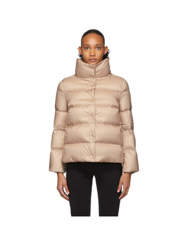 Pink Down Aude Jacket by Moncler