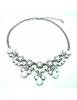 <Span><Span>Rhinestone Crystal Flower Choker Collar Chunky Statement Bib Necklace Jewelry</Span></Span> by Ebay Seller