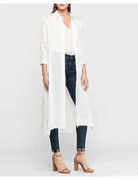 Textured Stripe Duster by Express