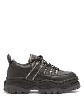 Angel Zipped Leather Trainers by Eytys
