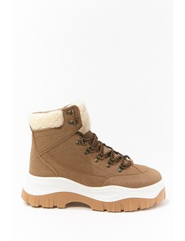 Faux Nubuck Combat Boots by Forever 21