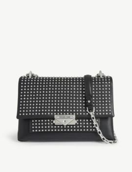 Cece Crystal Studded Leather Shoulder Bag by Michael Michael Kors