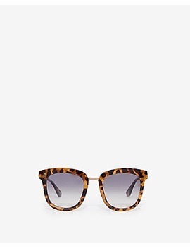 Square Tortoise Frame Sunglasses by Express