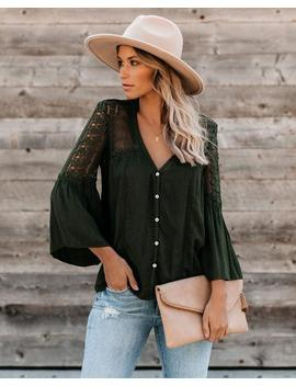 Du Jour Crochet Blouse   Olive   Flash Sale by Vici