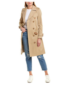 Burberry Gabardine Trench Coat by Burberry