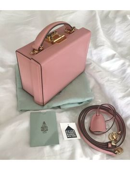 100% Auth Mark Cross Grace Small Rose Quarts Leather Box Bag Nwt by Mark Cross