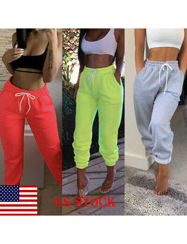 Us Stock Women Casual Sweatpants Jogger Dance Harem Pants Sports Baggy Trousers by Unbranded