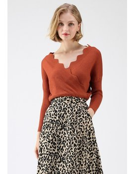 Cafe Time Wavy Wrap Knit Top In Caramel Classy Open Front Knit Coat In Light Tan Full Floral Printed A Line Midi Skirt In Mustard Classy Open Front Knit Coat In Olive Plaid Faux Suede A Line Midi Skirt In Blue by Chicwish