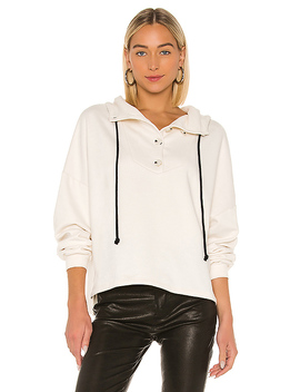 Contra Terry Button Hoodie In Dove by The Range