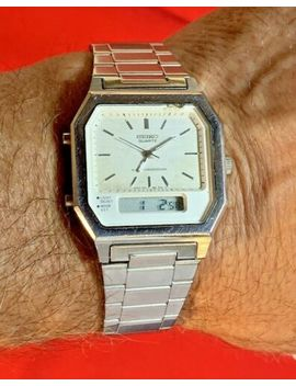 Seiko Vintage Rare Wristwatch Men's Analog Digital Alarm H601 5389. Works Fine by Seiko
