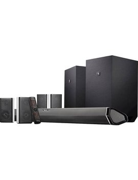 "Shockwafe 9.2.4 Channel 1000 W Soundbar System With Dual 10"" Wireless Subwoofers And Dolby Atmos   Black by Nakamichi"