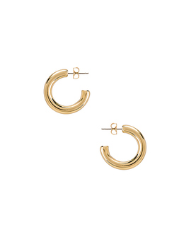 Harper Chunky Hoop Earrings In Gold by Five And Two