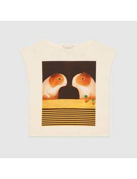 Children's Canvas Menagerie T Shirt by Gucci